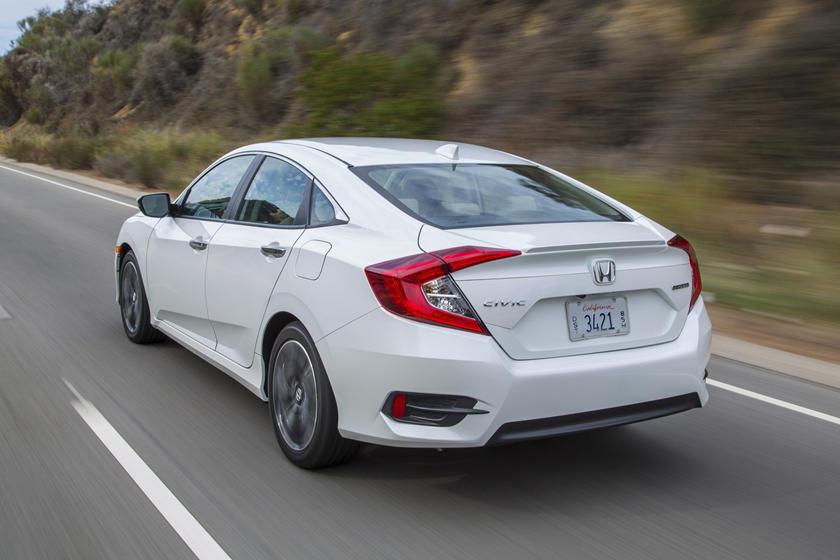 2016-2018 Honda  Civic Sedan Rear Angle in Motion