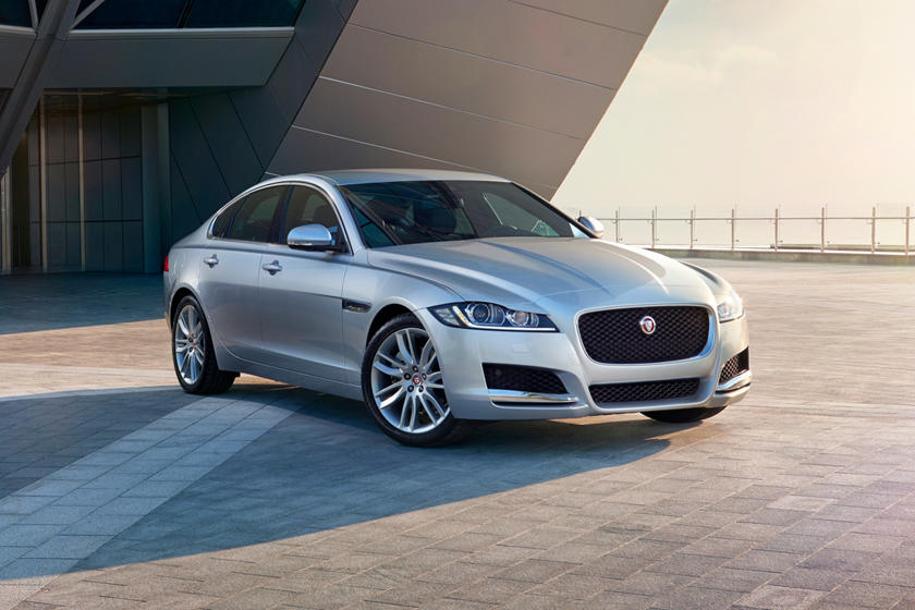 2018 Jaguar XF 35t Prestige Sedan Exterior. European Model Shown.