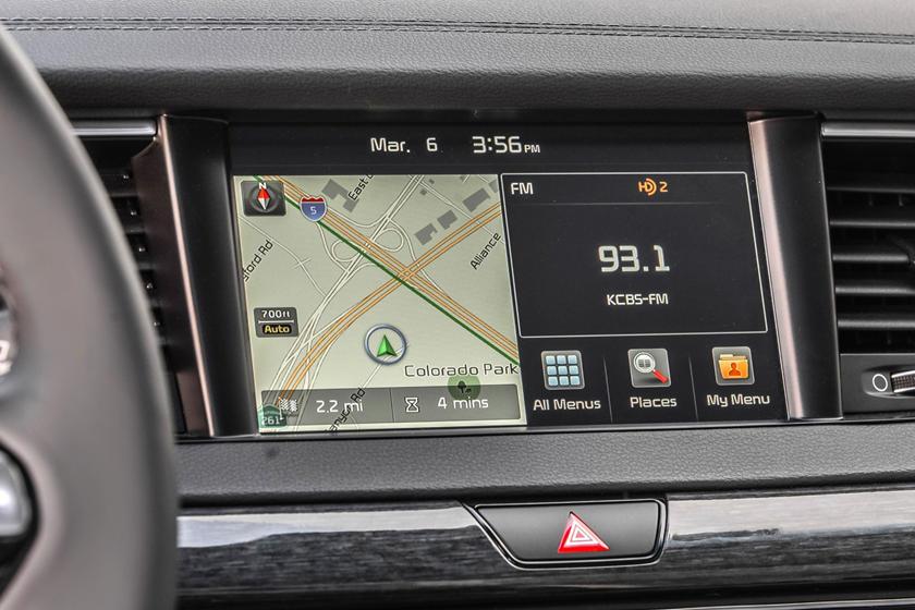 2017 Kia Cadenza Limited Sedan Navigation System Shown