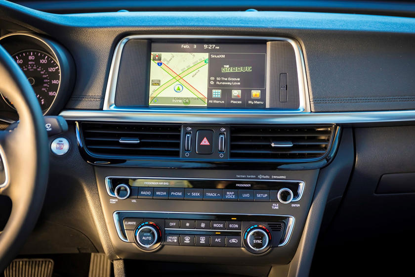 2017 Kia Optima Hybrid EX Sedan Center Console Shown