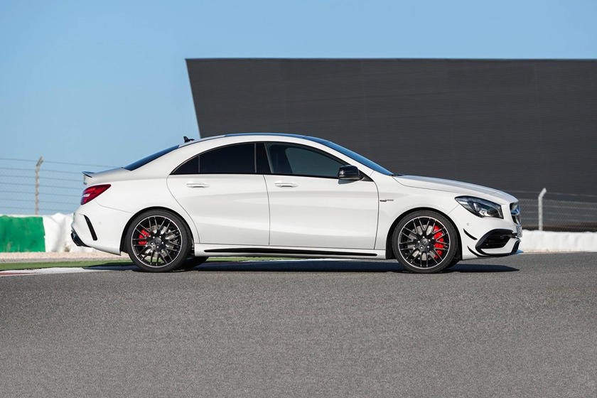 2018 Mercedes-Benz CLA-Class AMG CLA 45 Sedan Profile. European Model Shown.