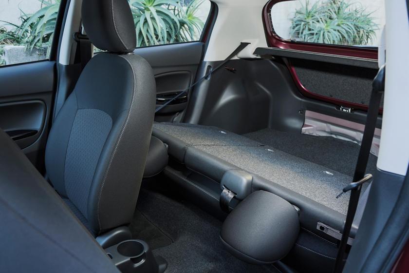 2018 Mitsubishi Mirage GT 4dr Hatchback Rear Seats Down Shown