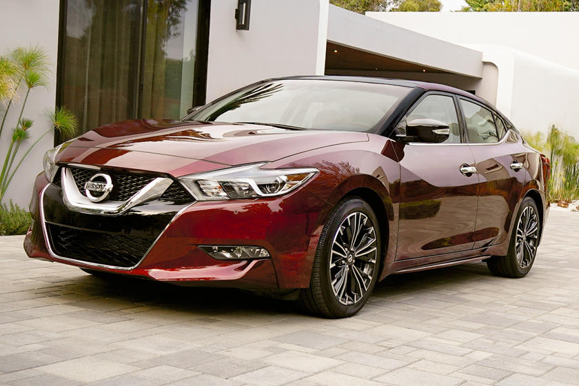 2017 Nissan Maxima Platinum Sedan Exterior. Options Shown.