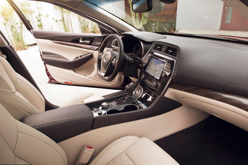 2017 Nissan Maxima Platinum Sedan Interior Shown
