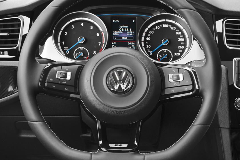 2017 Volkswagen Golf R w/Dynamic Chassis Control and Navigation 4dr Hatchback Steering Wheel Detail