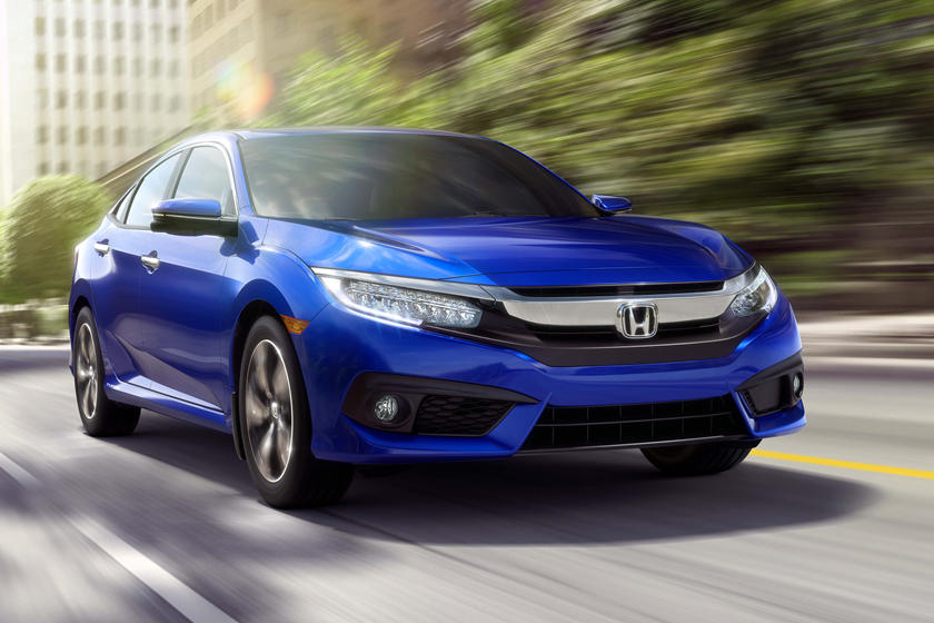 2016-2018 Honda  Civic Sedan Front Side in Motion