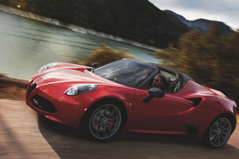 2016-2019 Alfa Romeo 4C Spider Front Side in Motion