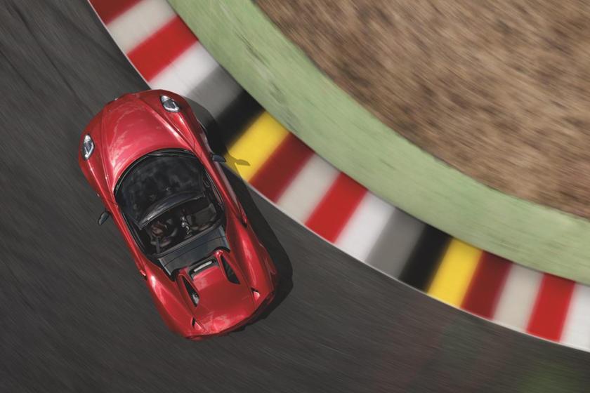 2016-2019 Alfa Romeo 4C Spider Top View
