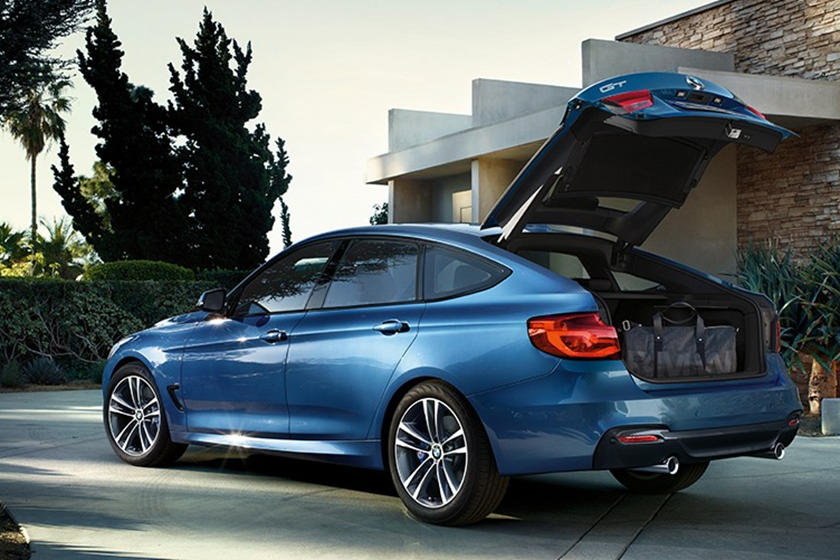 2017-2019 BMW 3 Series Gran Turismo Rear View With Open Trunk Lid