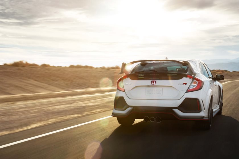 2017-2018 Honda Civic Type R Rear Angle in Motion