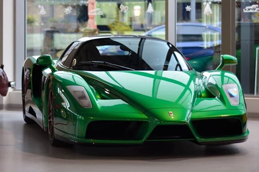 This Is The Only Emerald Green Ferrari Enzo In The World