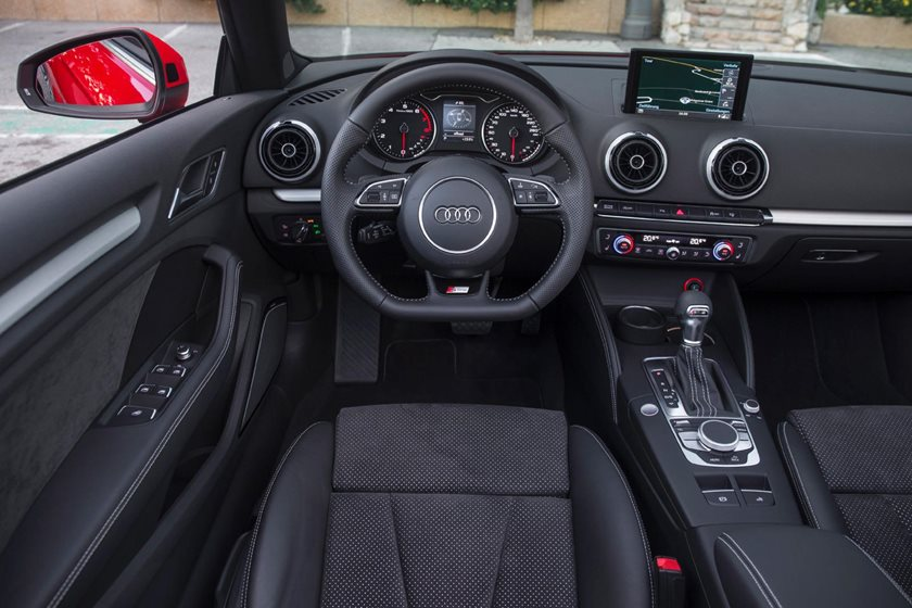 2017 Audi A3 2.0 TFSI Prestige quattro Convertible Steering Wheel Detail