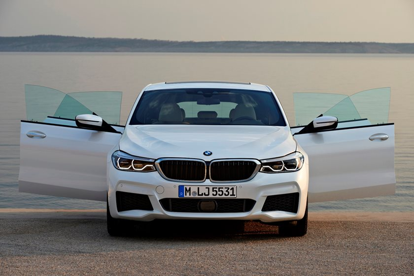 2018 BMW 6 Series Gran Turismo Front View With Open Doors