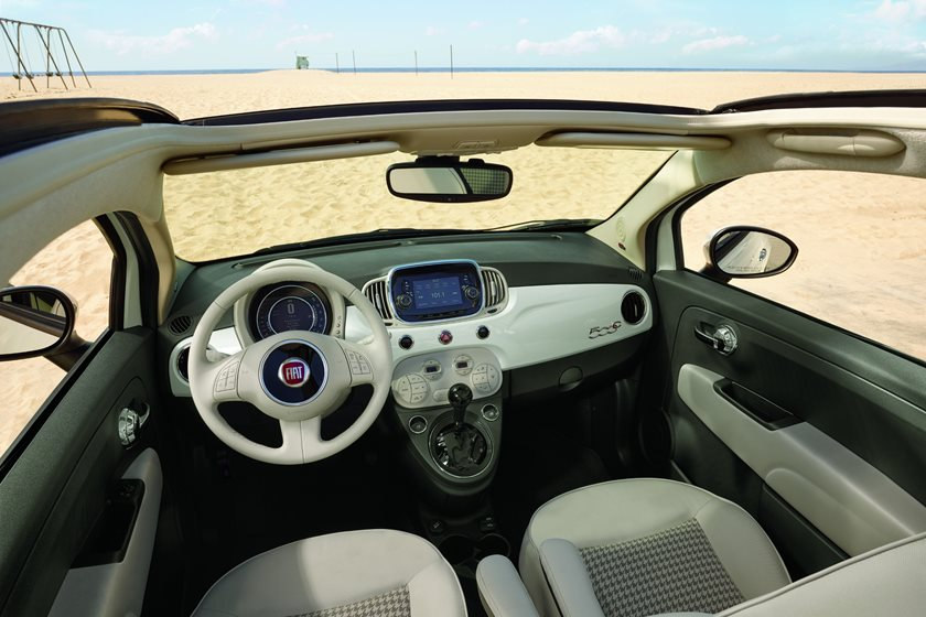 2012-2018 FIAT 500c Convertible Driver and Passenger Front View