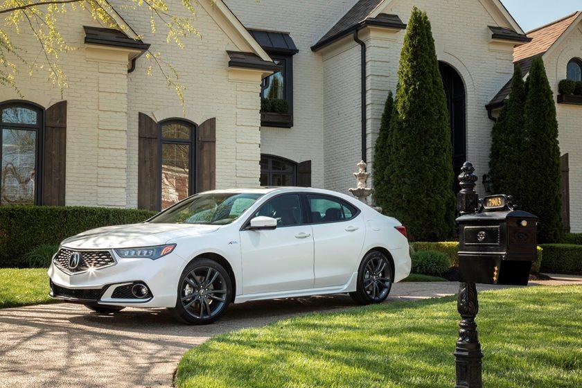 2018-2019 Acura TLX Sedan Front Three-Quarter Left Side View