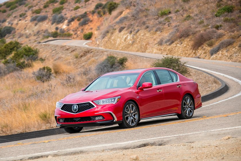 2018 Acura RLX Sport Hybrid Front Three-Quarter Left Side View