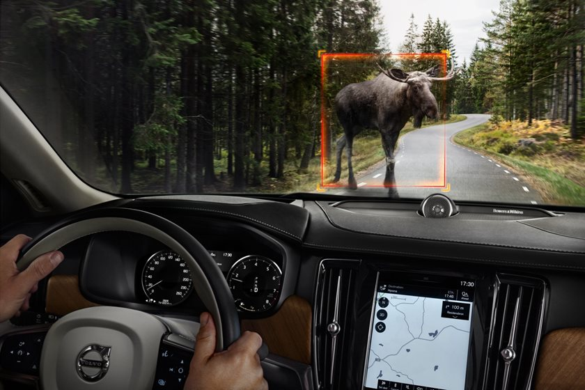 2018 Volvo  S90 Plug-in Hybrid Active Cruise Control System, Sensor, Animal