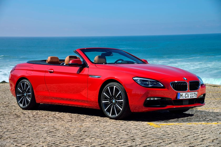 2015-2018 BMW 6 Series Convertible Front Three-Quarter Right Side View