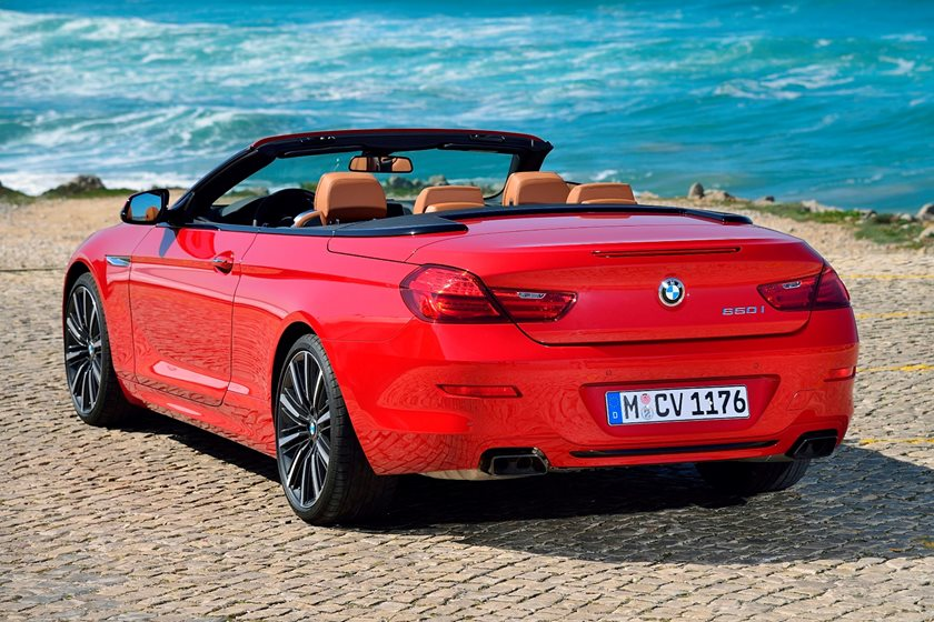 2015-2018 BMW 6 Series Convertible Rear Three-Quarter Left Side View