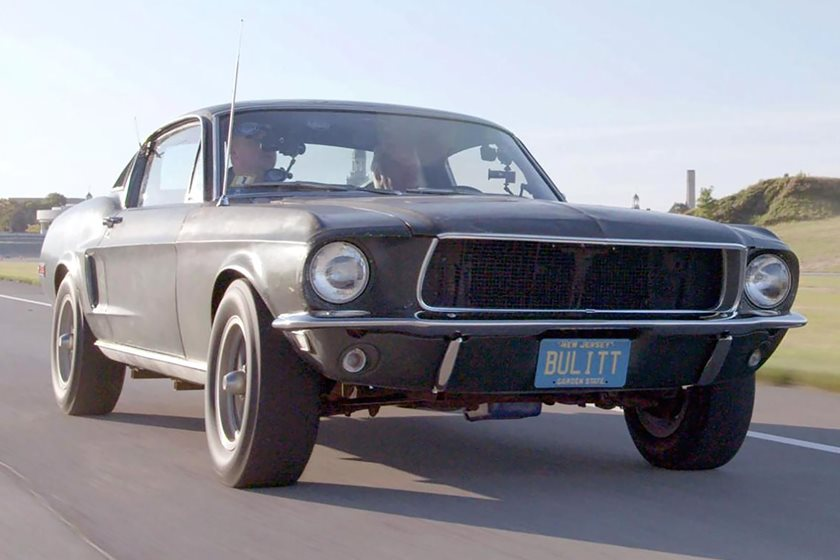 watch jay leno drive the original 1968 mustang from bullitt carbuzz. Black Bedroom Furniture Sets. Home Design Ideas