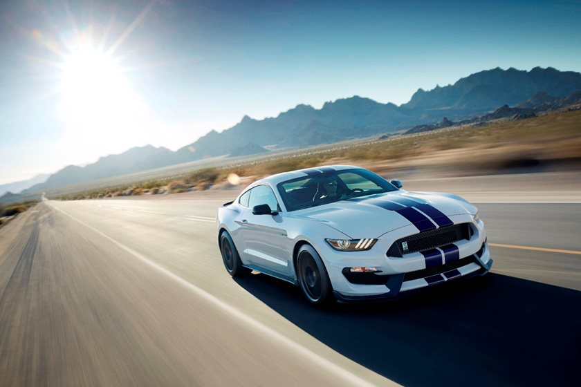 2016-2018 Ford Mustang Shelby Front Side in Motion