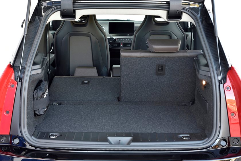 2018 BMW i3 Hatchback Luggage Space with Seat Folded