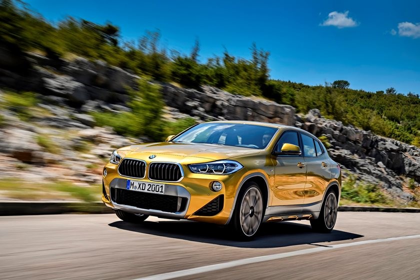 2018 BMW X2 Front Side in Motion