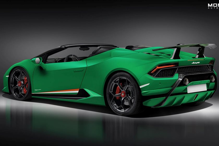 leaked first look of lamborghini huracan performante spyder carbuzz. Black Bedroom Furniture Sets. Home Design Ideas