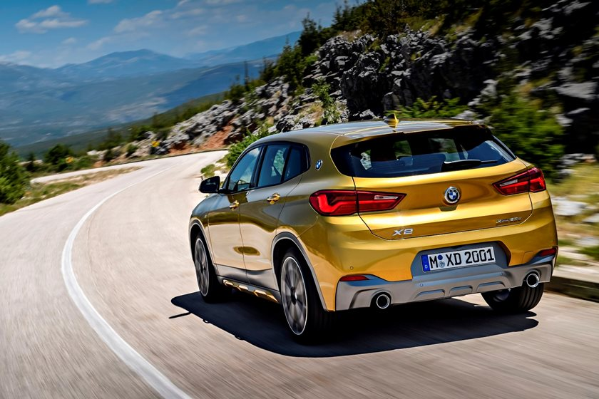2018 BMW X2 Rear Angle in Motion