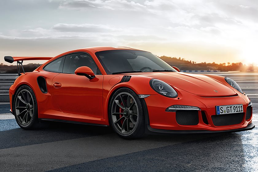 leaked 2018 porsche 911 gt3 rs breaks cover with more power carbuzz. Black Bedroom Furniture Sets. Home Design Ideas