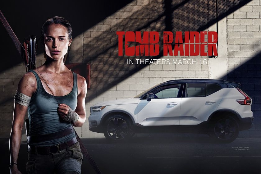 Lara Croft Drives Sleek New Volvo Xc40 In Tomb Raider