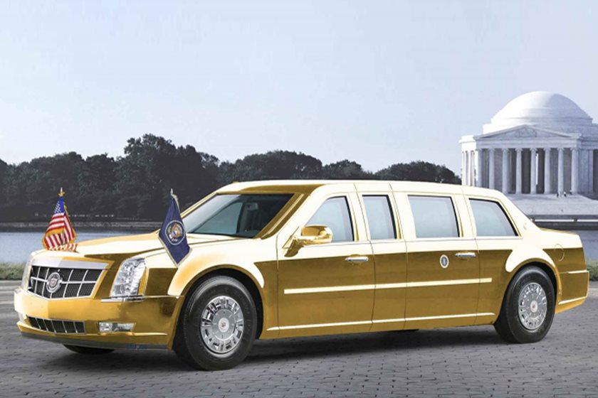 donald trump's new cadillac limo is coming this summer - carbuzz