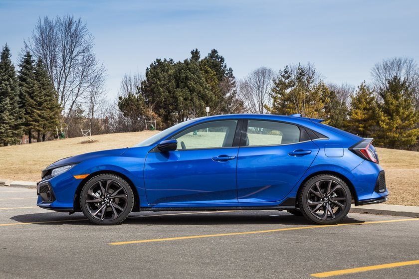 2018 Honda Civic Sport Touring Hatchback Left Side View