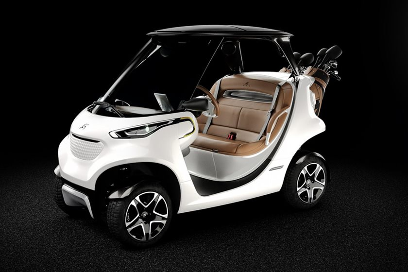 Luxury golf cart costs more than a mercedes benz e class for How much is the mercedes benz golf cart