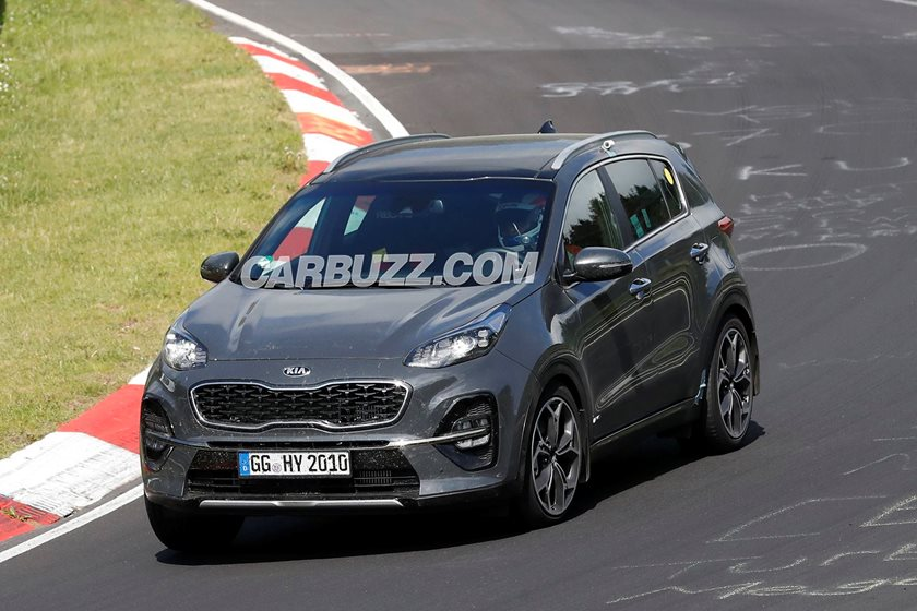 2019 kia sportage facelift caught completely undisguised carbuzz. Black Bedroom Furniture Sets. Home Design Ideas