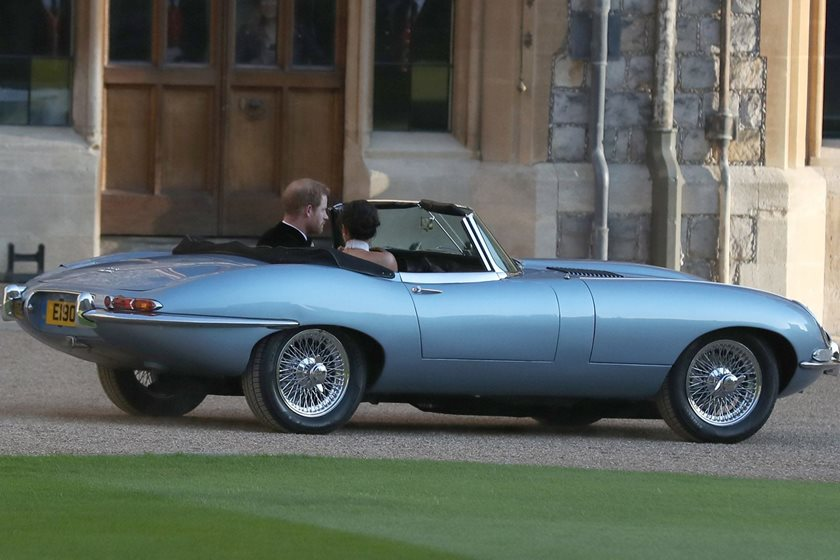 did you spot the electric jaguar e-type at the royal wedding? - carbuzz