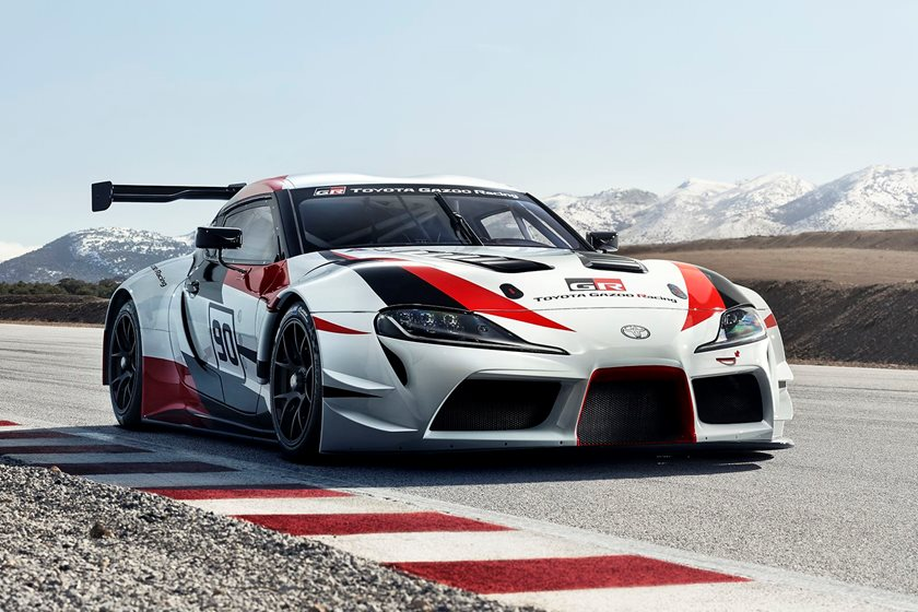 will the new toyota supra race at nascar carbuzz. Black Bedroom Furniture Sets. Home Design Ideas
