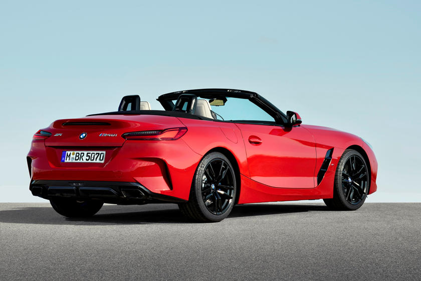 2019 BMW Z4 Roadster Rear Three-Quarter Right Side View