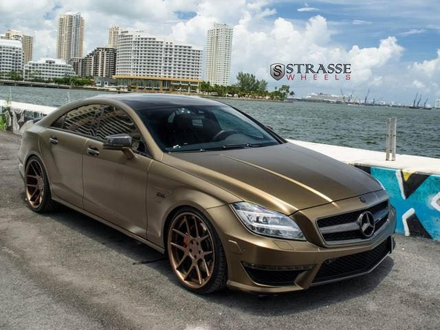 Strasse Adds More Bling To Gold Benz Cls 63 Amg Carbuzz