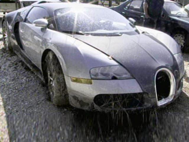 Bugatti crash in water