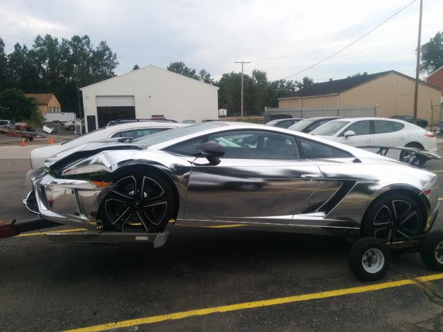 Chromed-Out Lamborghini Crashes Into Jeep Wrangler - CarBuzz