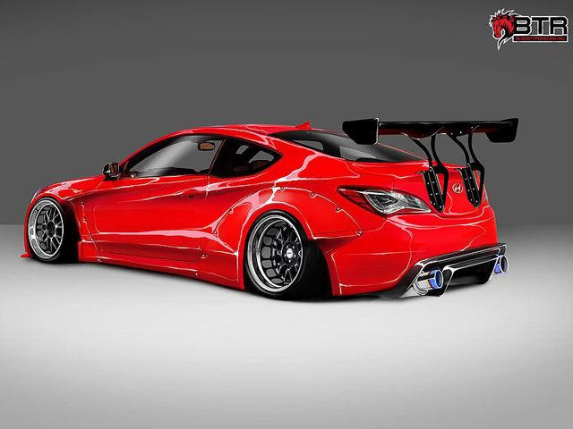 1,000 HP Hyundai Genesis Coupe Is A Bloody Marvel   CarBuzz