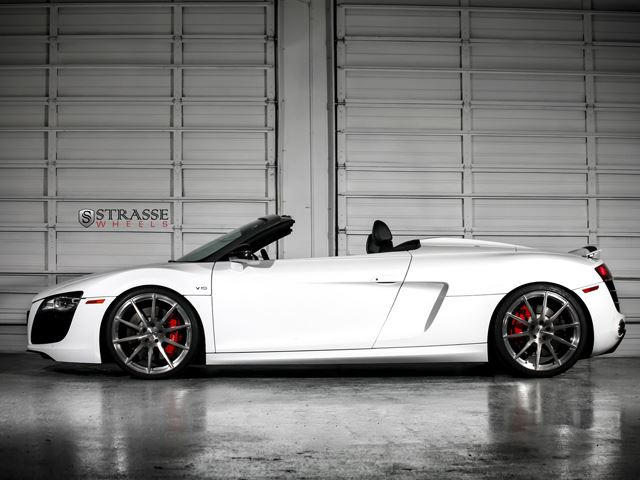 Strasse Sends Ibis White Audi R8 V10 Spyder Out In Style Carbuzz