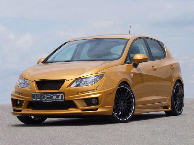 je design gives the seat ibiza 6j a golden touch - carbuzz