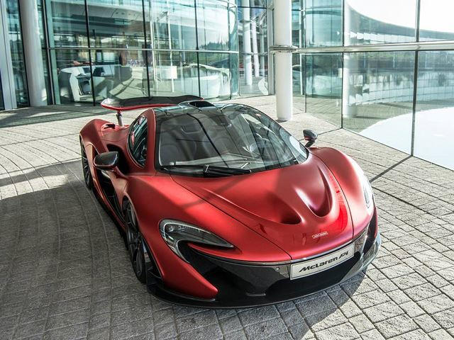 One Off Satin Volcanic Red McLaren P1 Trimmed With 24 Karat Gold