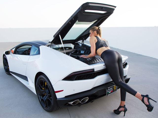 stunning blond model is why you should buy a lamborghini huracan