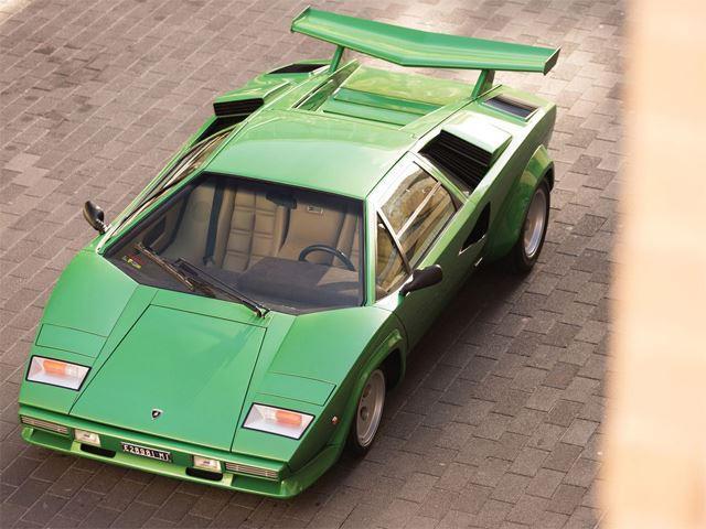 Lamborghini countach green