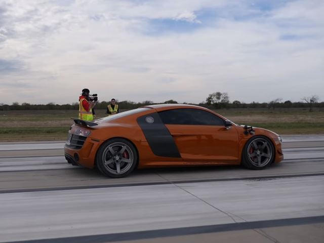This Audi R Ran A HalfMile With An Absolutely Insane Top Speed - Audi r8 top speed