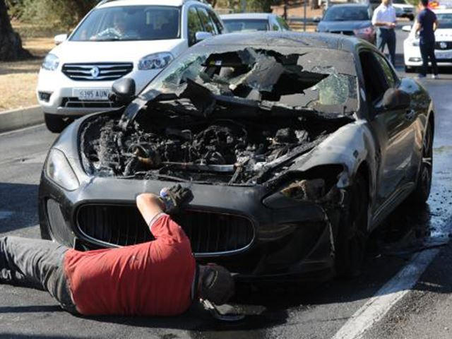 Perfect Maserati GranTurismo Catches Fire Just A Week After Fire Related ...