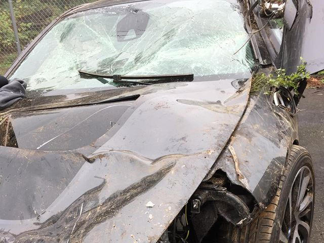 Horrific Crash Photos Prove Just How Safe The Bmw I8 Really Is Carbuzz